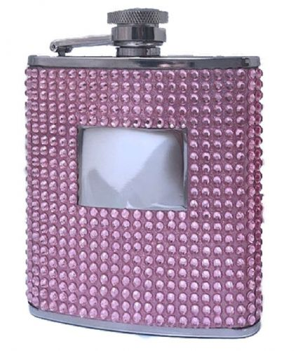 Ladies Pink Hip Flask